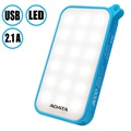Adata D8000L 8000mAh Dual USB Power Bank with LED Light - Blue