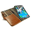 iPhone X / iPhone XS Alston Craig RFID Vintage Wallet Leather Case - Brown