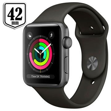 Apple Watch Series 3 MR362ZD/A - Aluminium, Opaska Sportowa, 42mm, 8GB - Kosmiczny Szary/Szary