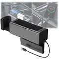 Baseus Deluxe Metal Car Organizer w/ USB Charger CRCWH-A01 - Black