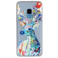 Samsung Galaxy S9 Luminous TPU Case - Deer with Flowers