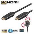 Kabel High Speed HDMI z Ethernet Goobay - Obrotowy - 2m