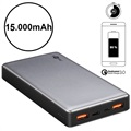Goobay Power Bank Quick Charge - Podwójne USB, Type-C - 15000mAh