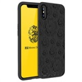 Etui z TPU MSVII Flower do iPhone X/iPhone XS - Czarne