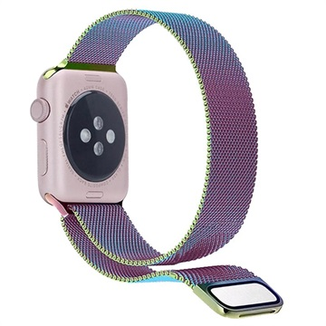 Apple Watch Series 5/4/3/2/1 Magnetyczny Pasek Milanese - 44mm, 42mm - Czarny