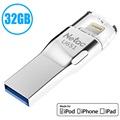 Netac U651 MFI Lightning / USB 3.0 Flash Drive - 32GB