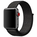 Apple Watch Series 5/4/3/2/1 Opaska z Plecionego Nylonu - 40mm, 38mm - Czarna