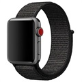 Apple Watch Series 5/4/3/2/1 Opaska z Plecionego Nylonu - 44mm, 42mm - Czarna