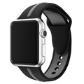 Apple Watch Series 5/4/3/2/1 Opaska Silikonowa - 38mm, 40mm - Czarny / Szary