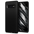 Etui z TPU Spigen Liquid Air do Samsung Galaxy S10+ - Czarne