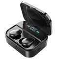 TWS Earphones with LED Charging Case X7 - Black