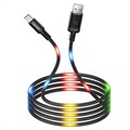 Kabel USB LED Usams US-SJ288 Dancing Typu-A / MicroUSB - 1 m - Czarny