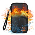 Water Resistant & Fireproof Multi-Slot RFID Case - Black