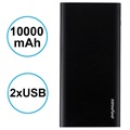 Power Bank iMyMax X10 Slim - 10000mAh - 2 x USB - Czarny