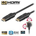 Kabel High Speed HDMI z Ethernet Goobay - Obrotowy - 3 m