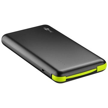 Goobay Slim - Power Bank 8000MAh - Czarny