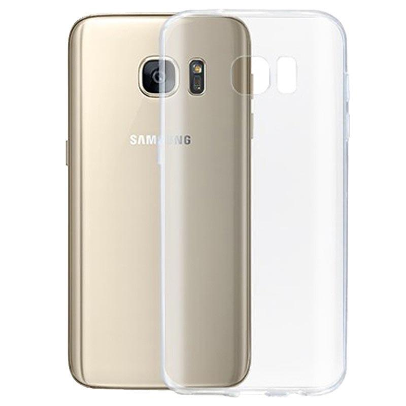 Samsung Galaxy S 7 Edge Ultra Płaski Pokrowiec TPU Okkes Air, Przezroczysty