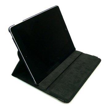 32a22b37baf52d Skórzany Pokrowiec z Obrotową Podstawką Sandberg iPad Air - Czarny